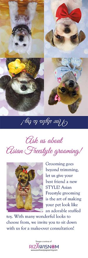 Art of Asian Freestyle Dog Grooming Table Tent